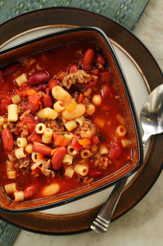 a version of Olive Garden Pasta E Fagioli Soup