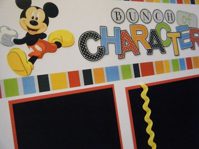 Disney World scrapbook idea
