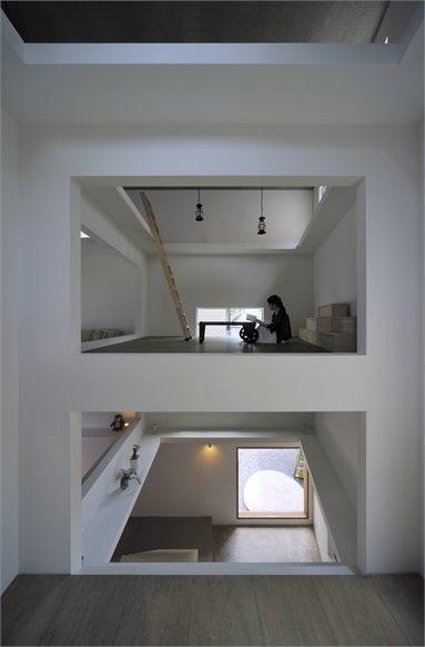 House T - Tokyo, Japan - 2012 - Hiroyuki Shinozaki Architects #architecture #japan #house #interirs #concrete