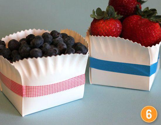 paper plate baskets for picnics
