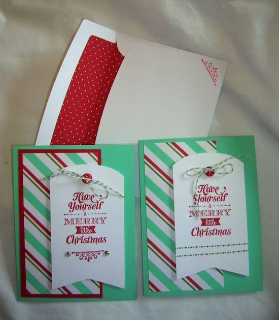 Christmas cards using the new Merry Little Christmas Simply Created card kit from the Stampin' Up! Holiday catalog. sandrascraftstudi...
