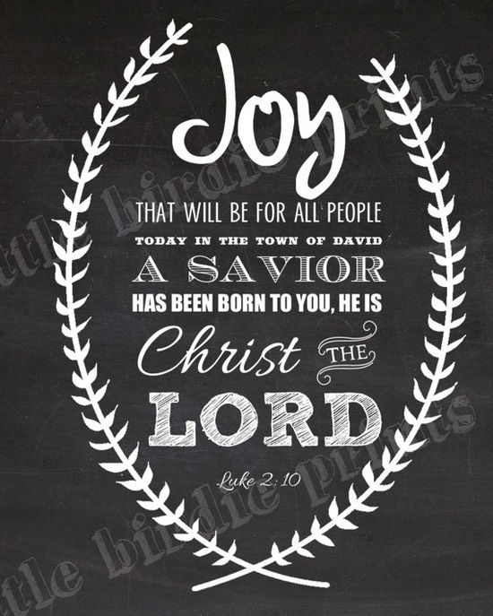 Christmas Printable Chalkboard Art Bible Verse Luke 2 Christmas Decoration - Christian Religious Wall Art