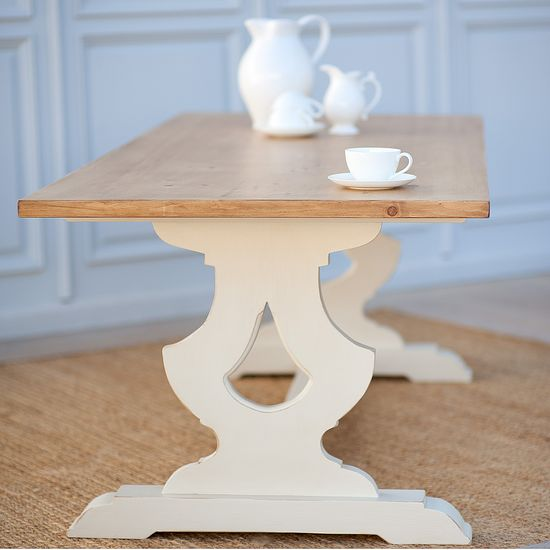Custom Made Janine-Marie Kitchen Dining Table :: Bradshaw Kirchofer Handmade Furniture