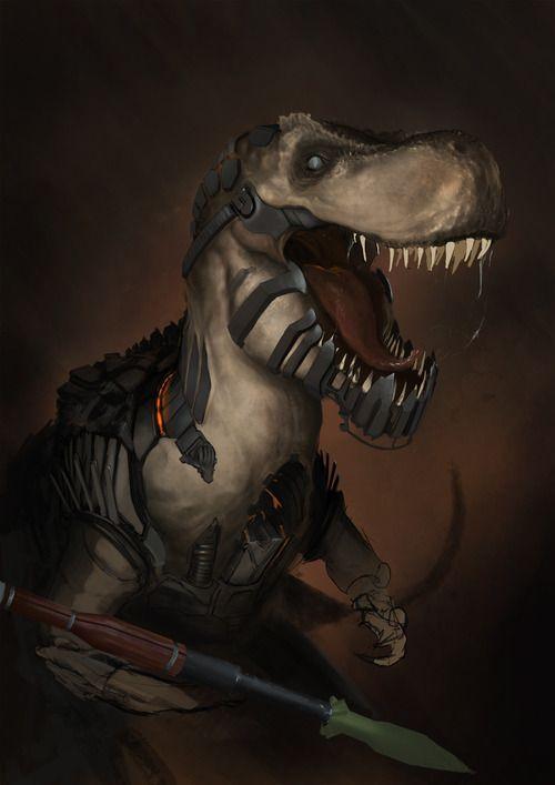 robot t-rex by ~htkpeh