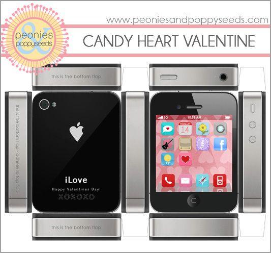 iPhone Valentine Printable