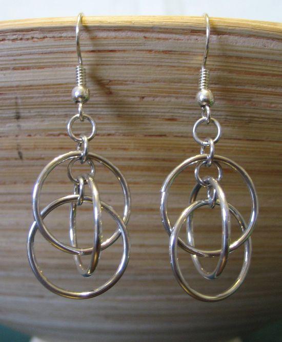 Orbit Chainmaille Earrings.