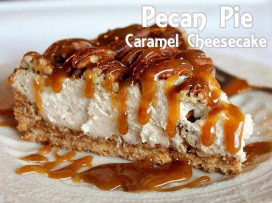 Pecan Pie Caramel Cheesecake . Make this for me @Elnaz Zarrini Seylaby