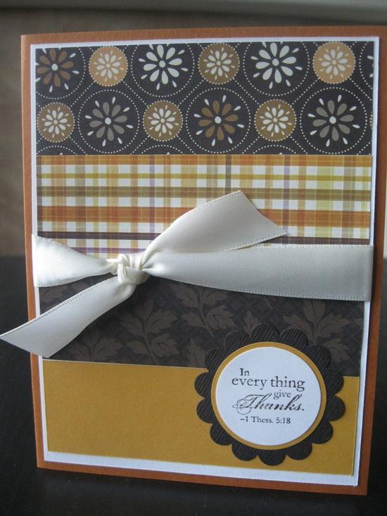 Thanksgiving handmade Card by thepaperdivamum on Etsy