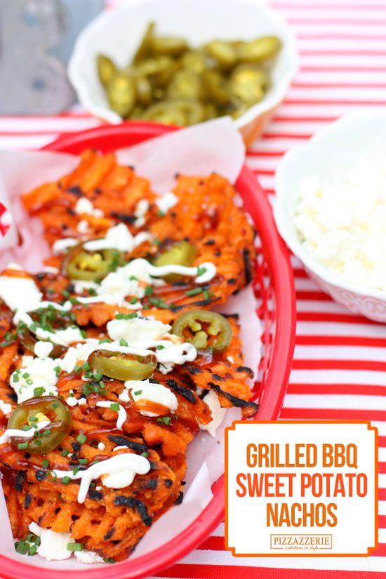 {Party Food} Grilled BBQ Sweet Potato Nachos! AMAZING!