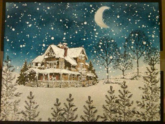 "christmas lodge **** SU ""Christmas Lodge"" & ""Lovely as a Tree"""