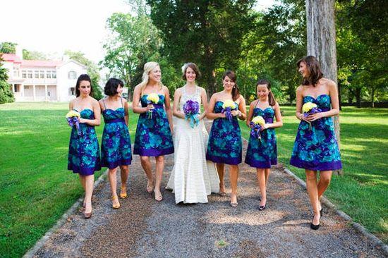 #printed #bridesmaid #dress