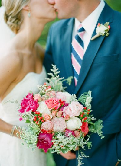 pink + coral bouquet