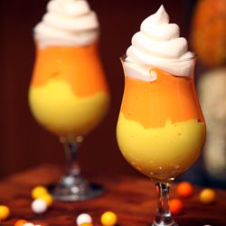 Candy corn pudding parfaits! Not candy corn flavored pudding, but very cute for fall!