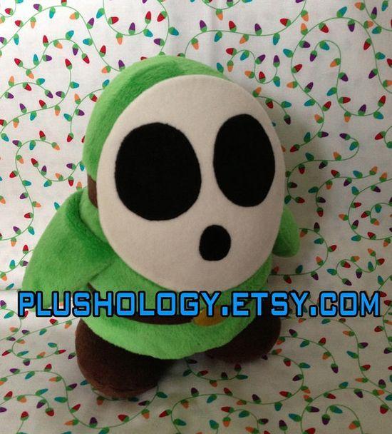 Shy Guy custom handmade plushie