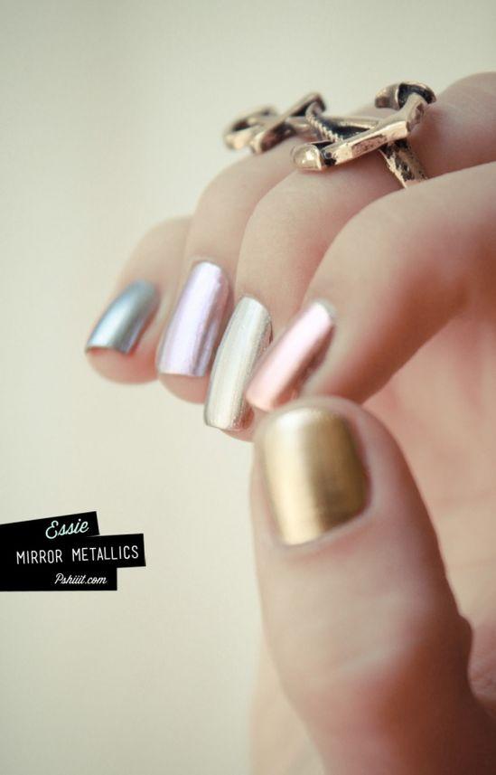Metallics go pastel.