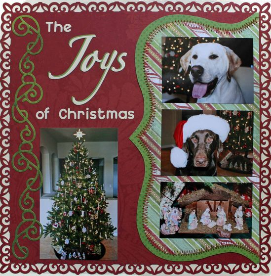 The Joys of Christmas - Scrapbook.com scrapbook page layout