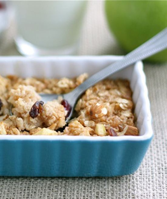 10 Breakfasts Your Kids Can Make - Apple Cinnamon Baked Oatmeal - mom.me