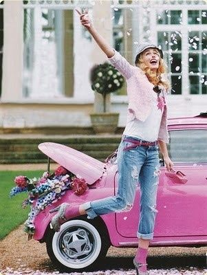 Pink makes me H.A.P.P.Y. #Cars and such #Car accessory #Cars