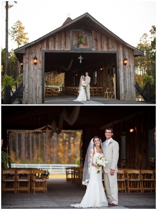Rustic Barn Wedding. Stunning gown