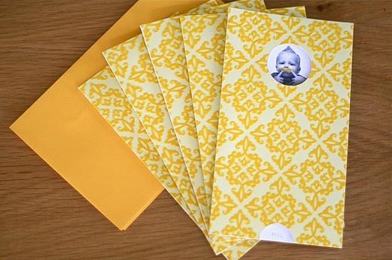 Yellow party (invitations)