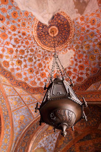Indian ceiling mural medallion, photo by kara sev