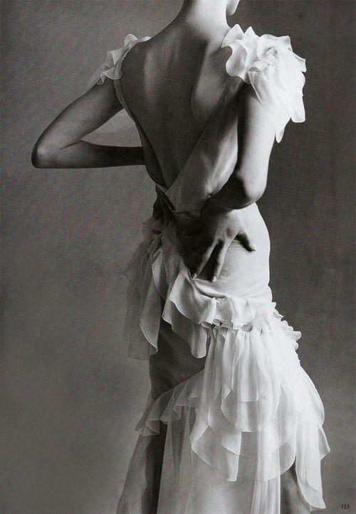 Linda Evangelista in John Galliano - by Steven Meisel for Vogue,1995