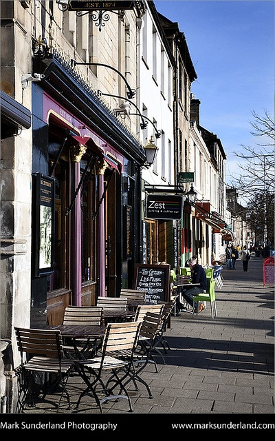 Cafes along South Street, St Andrews Fife Scotland