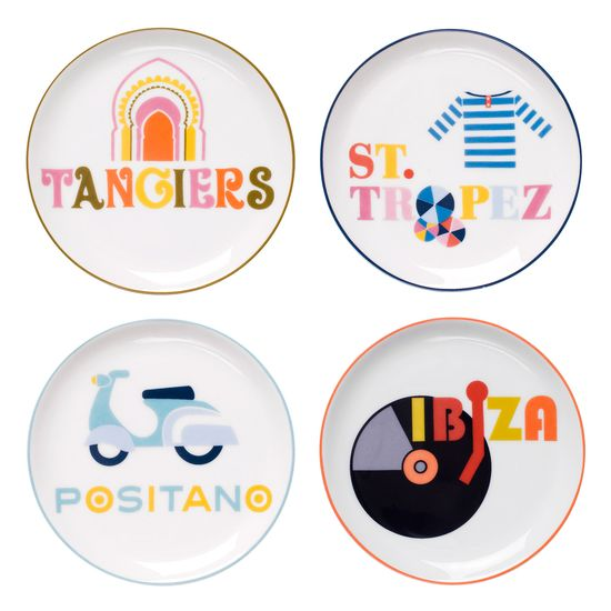 Jonathan Adler Jet Set Part Deux Coaster Set of 4 -  @Zinc_Door