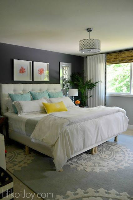 Pretty colorful master bedroom makeover @Sharon Macdonald Macdonald B. {Lilikoi Joy}