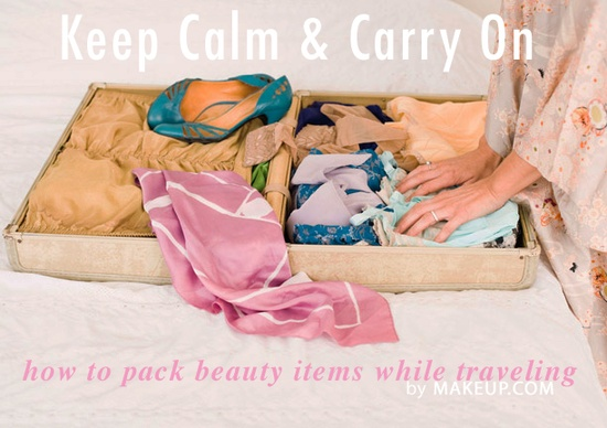 how to: pack beauty items while traveling / definitely need this as we head into summer vacationing! #useful