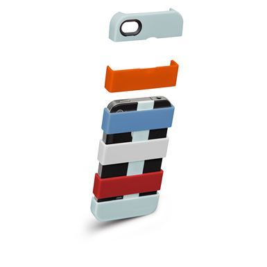iPhone 4 Stacks Case by Case Mate: Create your own cover piece by piece with these interlocking modular sections.