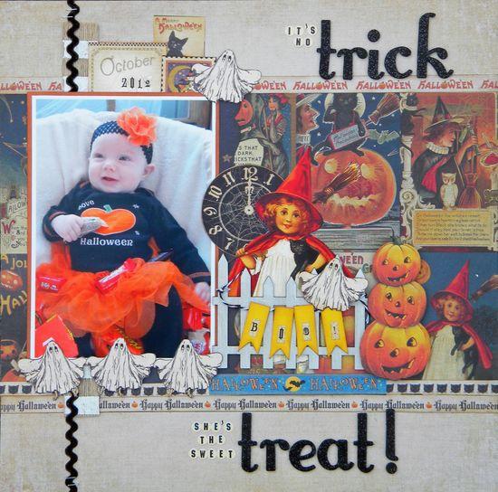 #papercraft #scrapbook #layout #Halloween    trick or treat - Scrapbook.com
