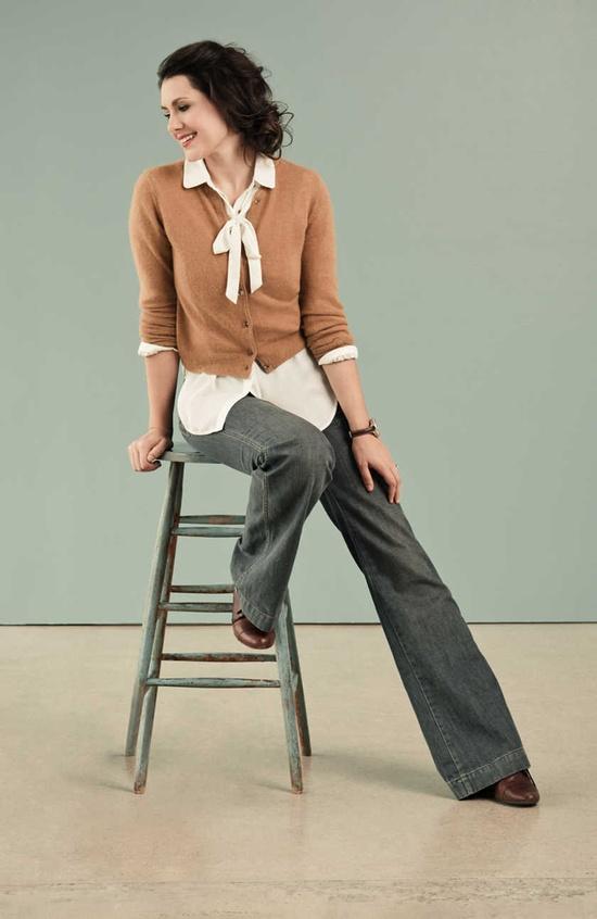 Kendi of style blog Kendi Everyday, wearing our vintage-inspired Meredith Cardigan.