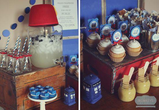 Doctor Who Party Ideas by  Three Little Monkeys Studio