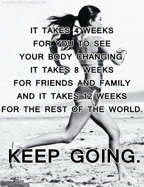 Never give up. Keep going even If Its just 10 mins. Give that 10 minutes your all.