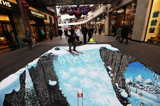 More Joe Hill Art - 3D Pavement Art...let's give it up for Joe!  Is he somethin' or what?