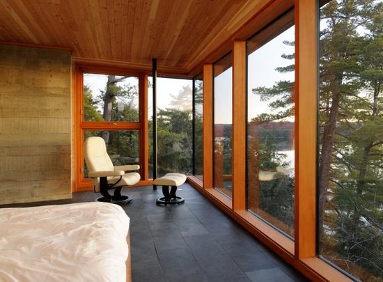 Altius Architecture - beautiful dark tiles for bedroom