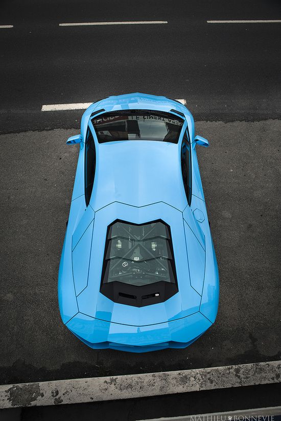 Baby Blue Lamborghini Aventador