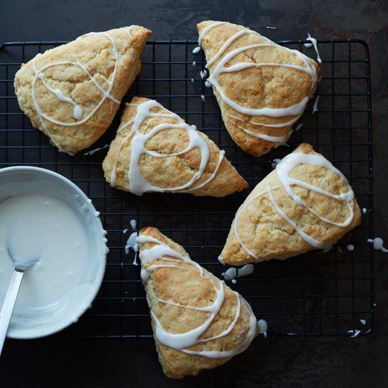 Glazed Lemon-Ginger Scones // More Breakfast Pastries: www.foodandwine.c... #foodandwine