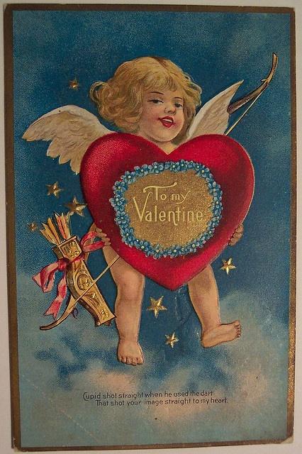 Vintage Valentines Day Postcard