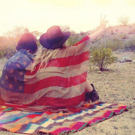 Boho Inspiration - Free People; American Flag