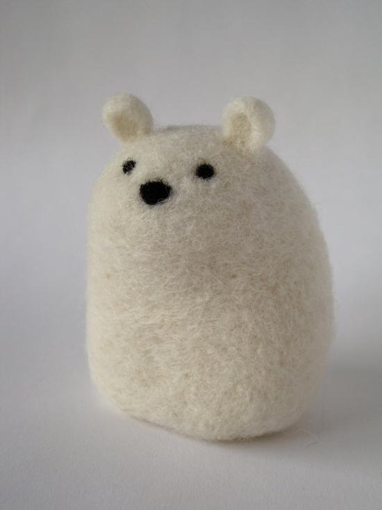 Polar Bear in felted wool