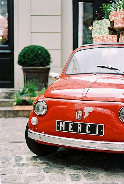 I will one day own a vintage red Fiat 500 and drive it through Tuscany.