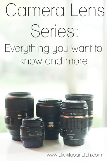 Camera Lens Series from click it up a notch