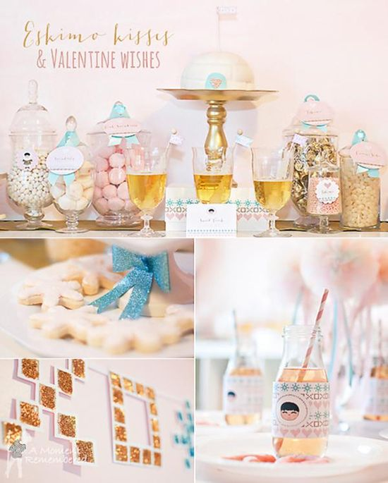 Eskimo kisses valentine's day party via Kara's Party Ideas karaspartyideas.com #valentine's #party #ideas #eskimo