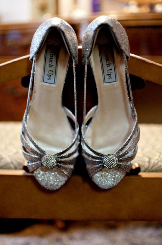 DIY Glitter + Cheap Cute Shoes = $40 Wedding Shoes