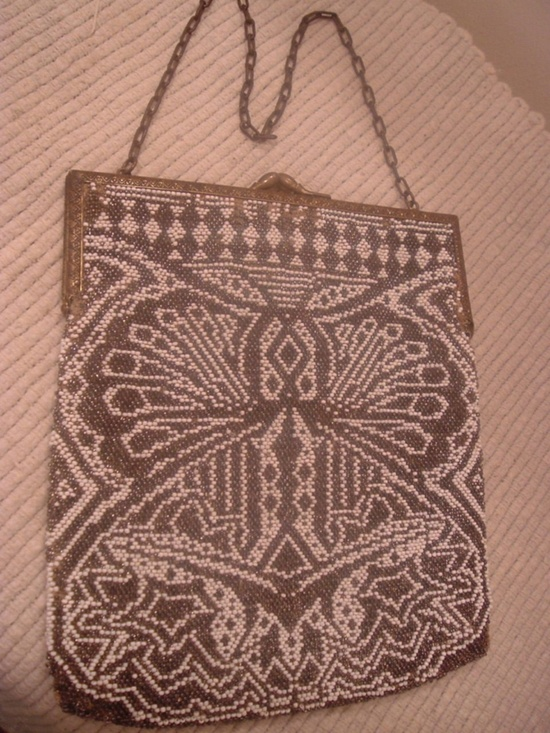 Vintage Micro glass beaded large purse