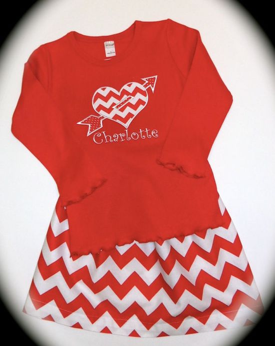 Custom Personalized Girl's Chevron Skirt with by KinleasKloset, $36.50