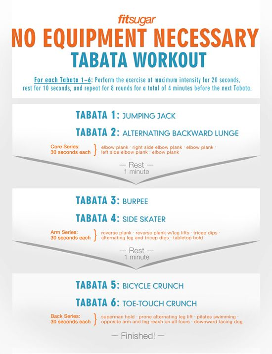 Printable Tabata Workout - for when theres no babysitter to go out for a run!