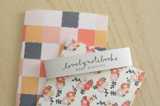 floral & checkered notebooks / your wishcake on etsy.